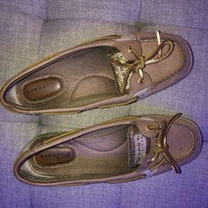 Sperry shoes golden with tan